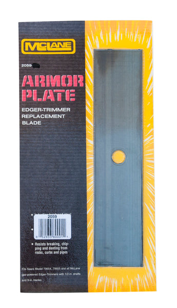 "McLane 2059 Armor Plate Regular Edger-Trimmer Replacement Blade, 2"" x 9"""