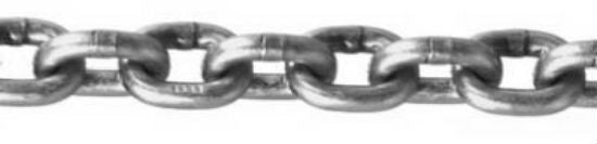 Campbell® 0190424 Stainless Steel Chain, 50', Bright Finish