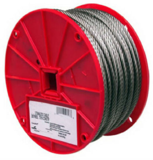 "Campbell® 7000426 Type 304 Stainless Steel Cable, 1/8"" x 250'"