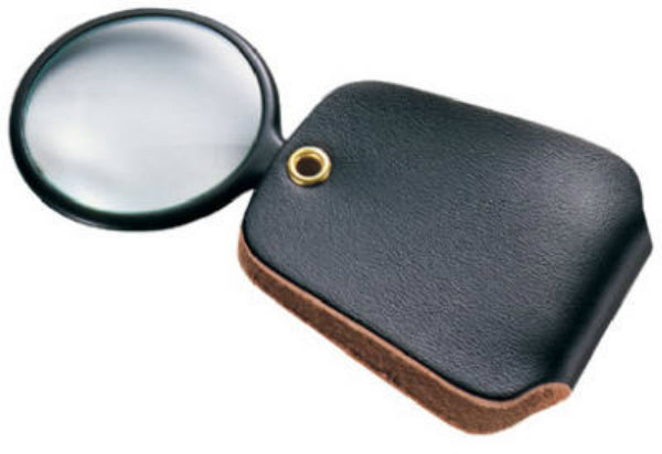 "General Tools 532 Pocket Magnifier with Vinyl Case, 2.5 Power, 4"" Focal Length"