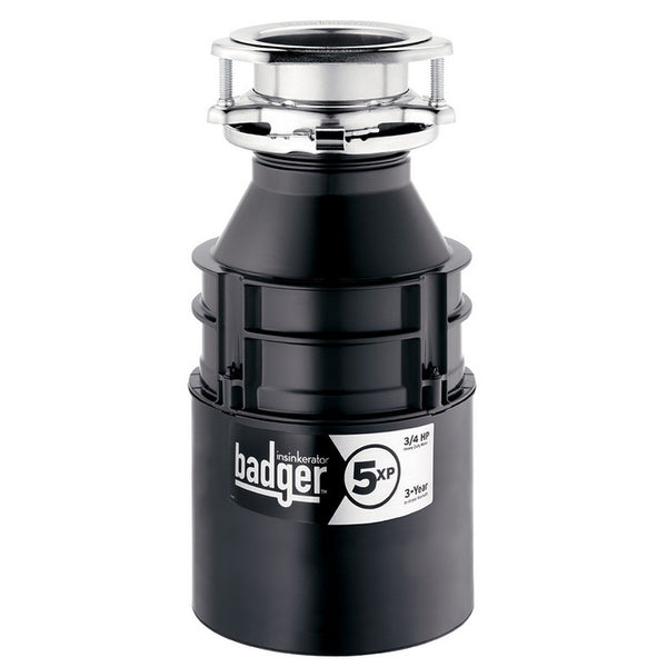InSinkErator BADGER 5XP Continuous Feed Food Waste Garbage Disposal, 3/4 HP