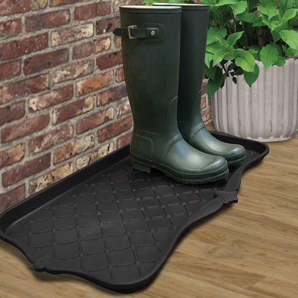 Multy Home 1000019 Black Majestic Boot Tray, Holds at least 3 Pairs of Boots