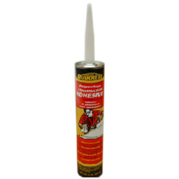 Quikrete® 990210 Commercial Grade Polyurethane Construction Adhesive, 10.1 Oz