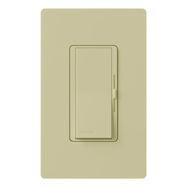 Lutron® DVW-600PH-IV Diva Duo Single Pole Incandescent Dimmer, 600W, Ivory
