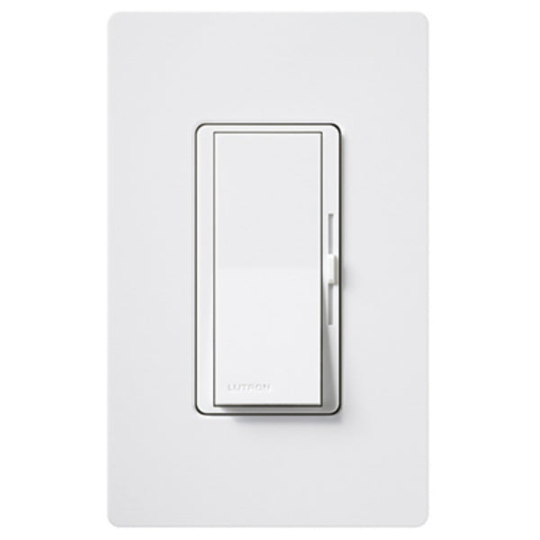 Lutron® DVW-603PH-WH Diva® Duo Incandescent Dimmer w/ Wall Plate, 3-Way, White