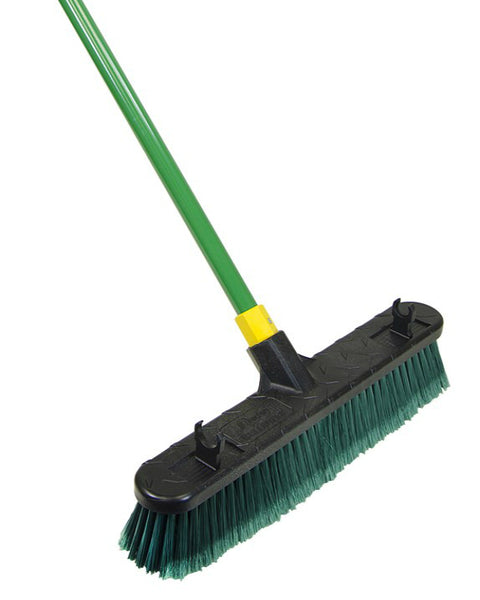 Quickie® BULLDOZER® 00538 Multi-Purpose Indoor/Outdoor Pushbroom, Steel Handle, 24""