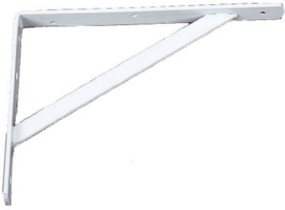 "Knape & Vogt® 208-WH-300 Heavy Duty ""L"" Bracket, 12'', White"