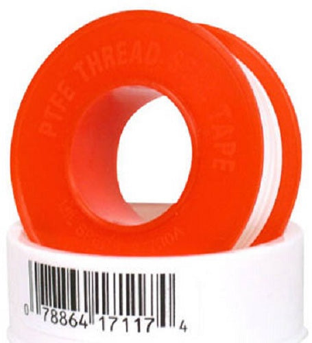 "William Harvey 017117B PTFE Thread Seal Tape, 1/2"" x 520"""