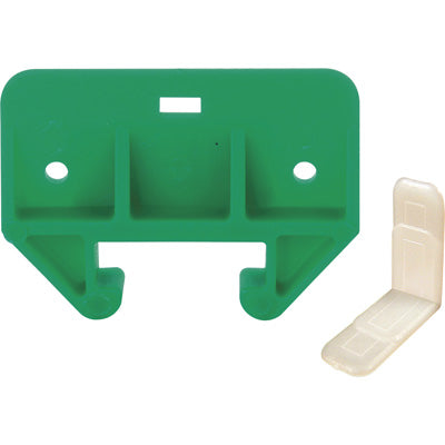 "Slide-Co 22495 Drawer Track Guide, 1-1/8"", Plastic, Green"