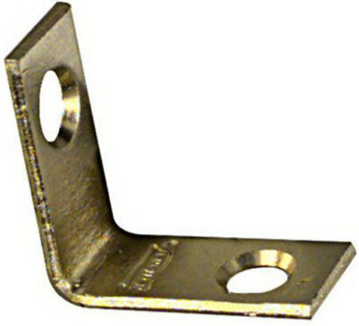 "National Hardware® N190-819 Corner Irons with Screws, 1"" x 1/2"", Bright Brass, 4-Pack"