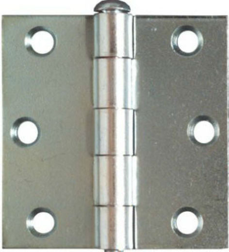 "National Hardware® N195-644 Removable Pin Broad Hinge, 2-1/2"", Zinc, 2-Pack"