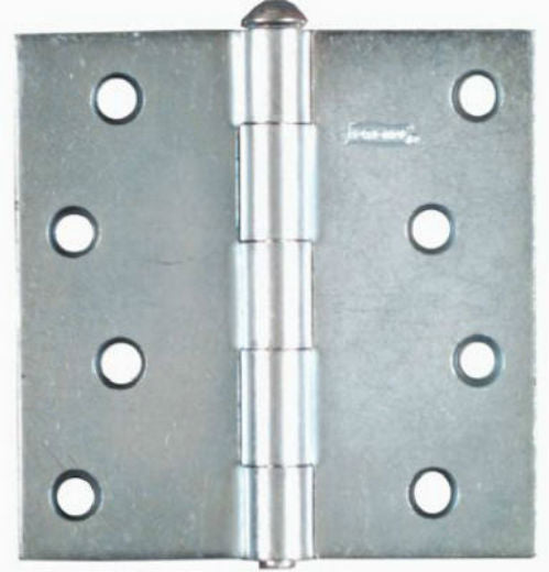 "National Hardware® N195-677 Removable Pin Broad Hinge, 4"" x 4"", Zinc Plated"