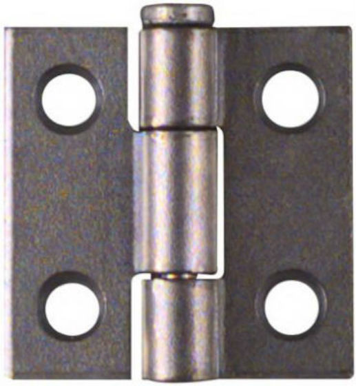 "National Hardware® N141-606 Removable Pin Hinge, 1"" x 1"", Zinc Plated, 2-Pack"