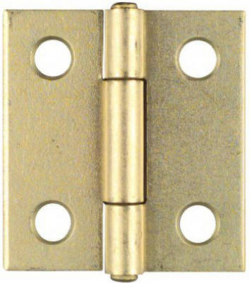 "National Hardware® N146-068 Non-Removable Pin Hinge, 1-1/2"", Brass, 2-Pack"