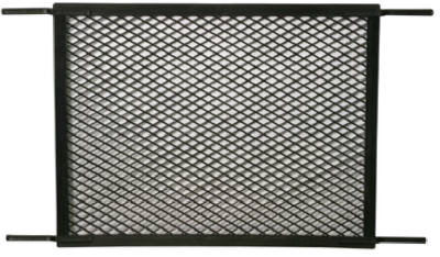 Slide-Co PL-15518 Molded Swinging Screen And Storm Door Grill, Black