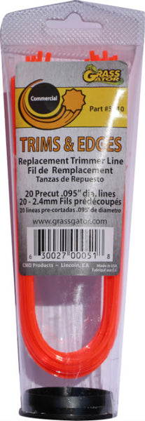 "Grass Gator 5610 Pre-Cut Replacement Line Trims & Edges, 0.095"" Diameter"