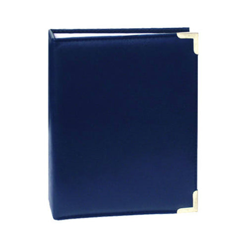 "Pioneer TS246 Photo Album w/ Leather-Like Cover & Brass Corners, 4""x6"", Assorted"