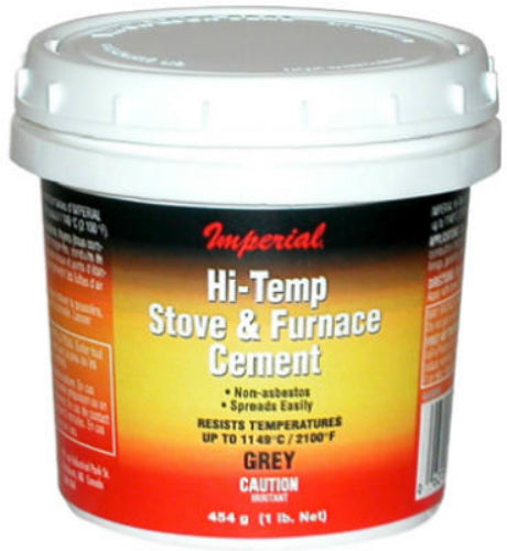 Imperial KK0068-A Hi Temperature Stove & Furnace Cement, 8 Oz, Gray