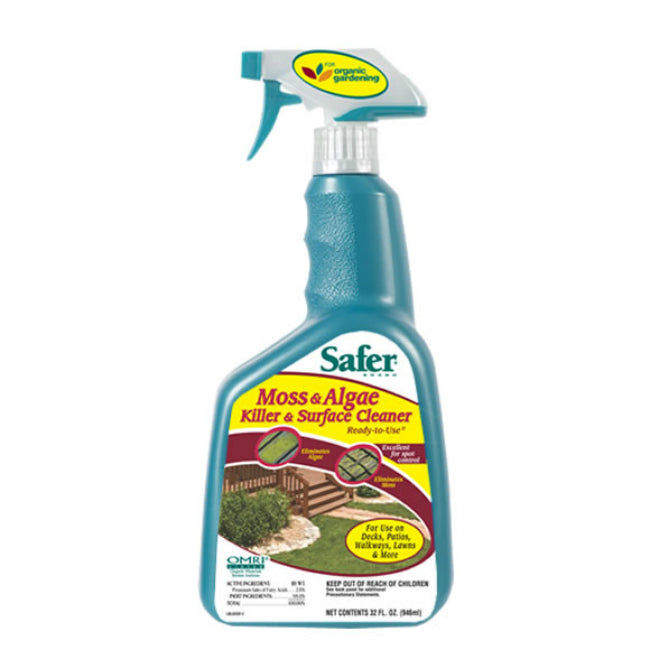 Safer® 5325 Moss & Algae Killer & Surface Cleaner, Ready To Use, 32 Oz