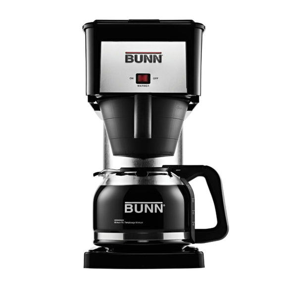 Bunn® BXB Velocity Brew® Coffee Brewer w/ Carafe, 10-Cup, Black & Stainless Steel
