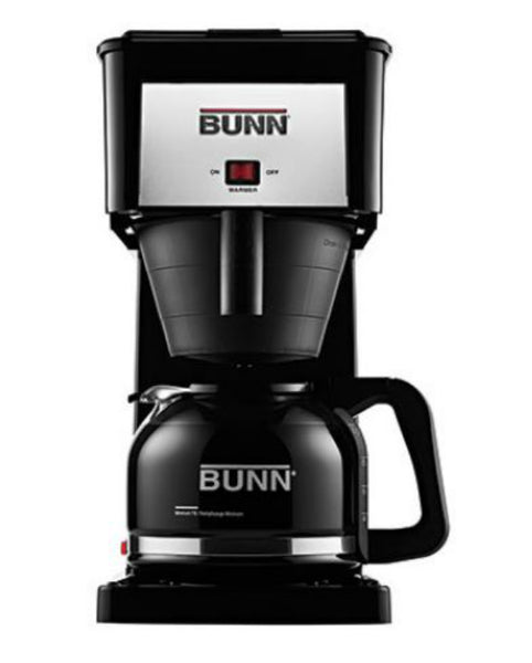 Bunn® GRB Coffee Brewer with Stainless Steel Tank, 10-Cup, Black