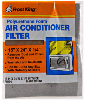 "Frost King F1524 Window Air Conditioner Filter, 15"" x 24"" x 1/4"""