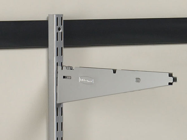 Rubbermaid 5E20-FT-SNCKL FastTrack Garage Storage System Bracket w/ Clips, 16""