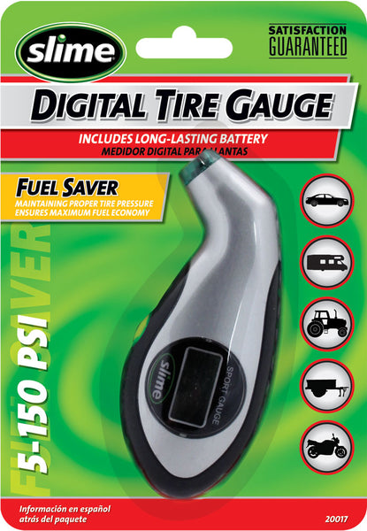 Slime® 20017 Digital Sport Tire Gauge, 5-150 PSI
