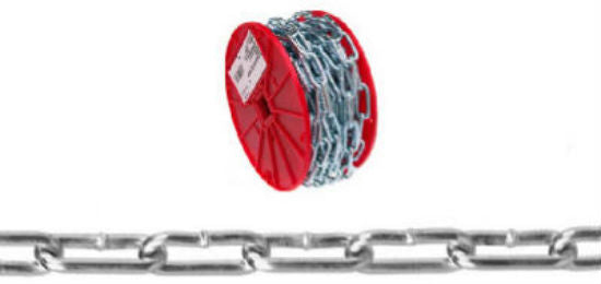 Campbell® 0722827 Straight Link Coil Chain, 40', Zinc Plated