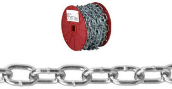 Campbell® 0722957 Passing Link Chain, 50', Zinc Plated