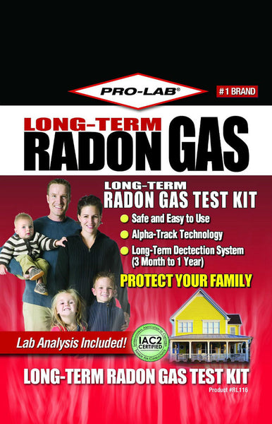 Pro-Lab® RL116 Long-Term Radon Gas Test Kit