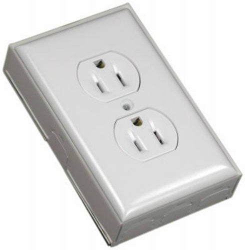 Wiremold® B2D Metallic Outlet Kit, Ivory
