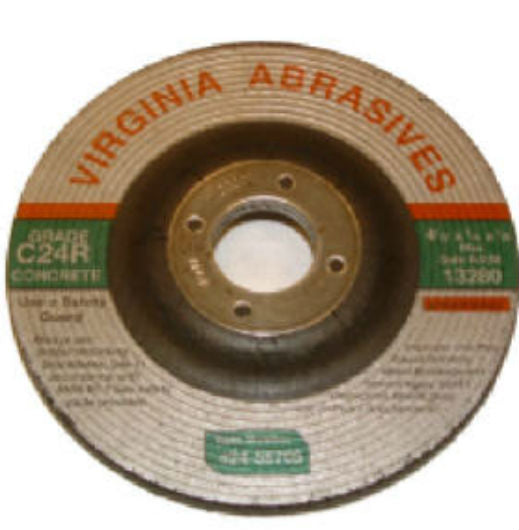 "Virginia Abrasives™ 424-55705 Concrete Grinding Wheel w/Hub, 4-1/2""x1/4""x5/8""-11"""