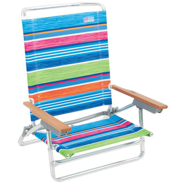 Rio Brands SC590C-TS Deluxe 5-Position Aluminum Frame Lay Flat Beach Chair