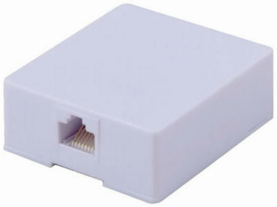 RCA TPH553 Surface Mount Wall Jack, RJ45, White