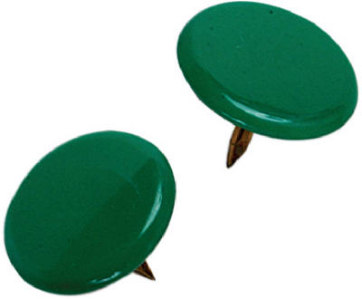 Hillman Fasteners 122675 Thumb Tacks, Green, 40 Pack