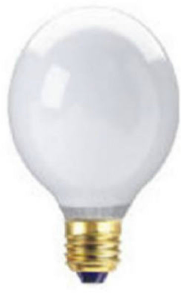 Westpointe 70920 Medium Base G25 Decorative Globe Bulb, White, 40W, 3-Pack