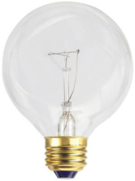 Westpointe 70876 Standard Base G25 Vanity Globe Light Bulb, Clear, 25W