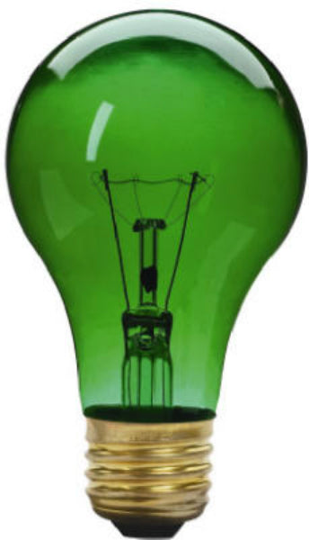 Westpointe 70803 Party Light 25A19/TG Bulb, 25W, 120V, Transparent Green, 4-1/2""