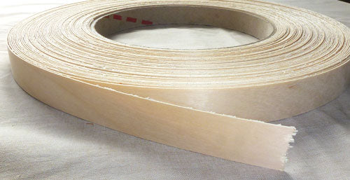 "Band-IT® 78850 Pre-Glued Iron-On Wood Veneer Edgebanding, 7/8"" x 8"", White Birch"