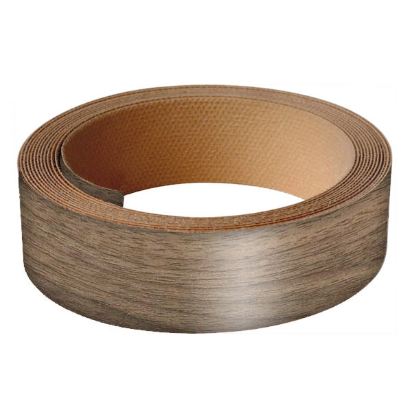 "Band-IT® 78820 Pre-Glued Iron-On Wood Veneer Edgebanding, 7/8"" x 8', Walnut"