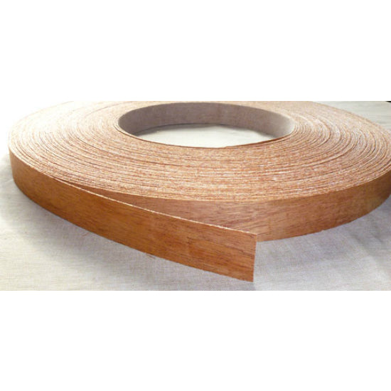 "Band-IT® 78240 Pre-Glued Iron-On Wood Veneer Edgebanding, 7/8"" x 25', Cherry"