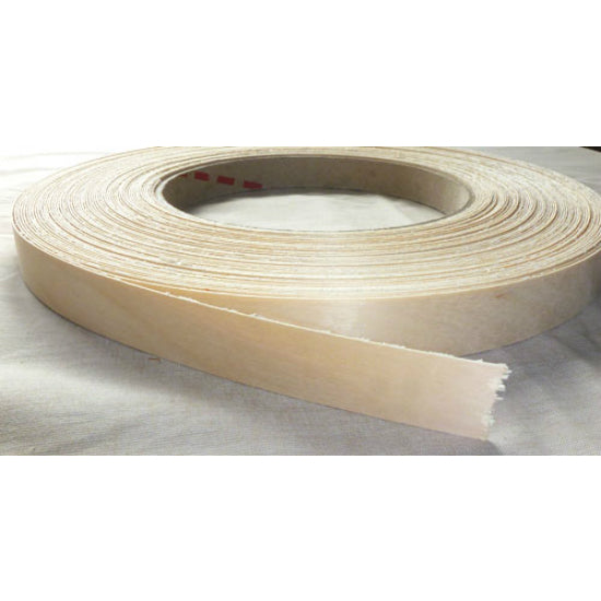 "Band-IT® 28050 Pre-Glued Iron-On Wood Veneer Edgebanding, 2"" x 8', White Birch"