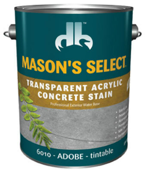 Mason's Select® DB0060104-16 Transparent Acrylic Concrete Stain, Adobe, 1 Gallon