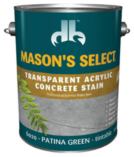 Mason's Select® DB0060204-16 Transparent Acrylic Concrete Stain,Patina Green,1 Gal