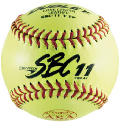 Dudley 4Y-611P SBC 11 ASA Fast Pitch Leather Softball, .47 COR, 11""