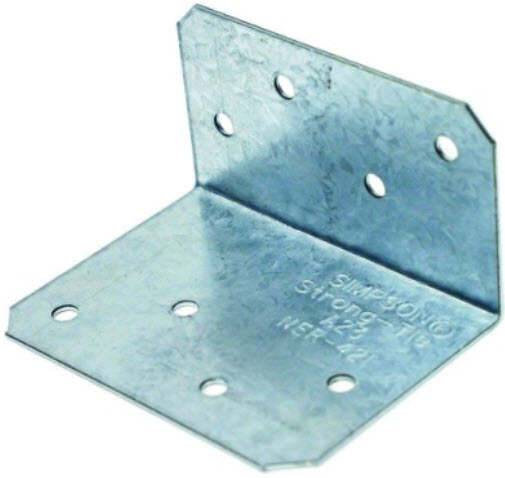 "Simpson Strong-Tie A23Z Galvanized Steel Angle Z-Max, 2"" x 3"", 18 Gauge"