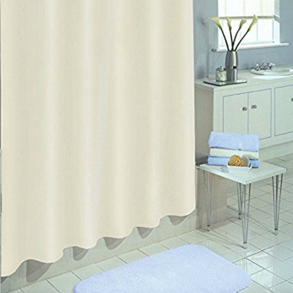 "Ex-Cell 1ME-049O0-0899-280 Heavy Duty PEVA Shower Curtain/Liner, Ecru, 70""x71"""