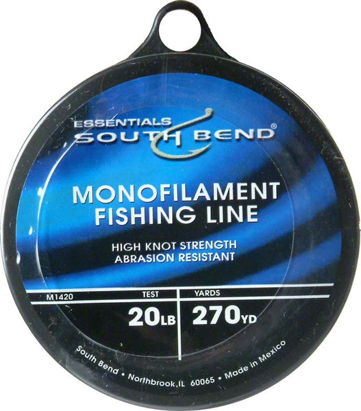 South Bend® M1420 Monofilament Fishing Line, 20 Lbs Test, Clear, 270 YD