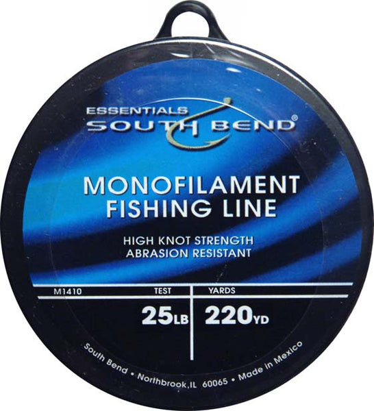 South Bend® M1425 Monofilament Fishing Line, 25 Lbs Test, Clear, 220 YD